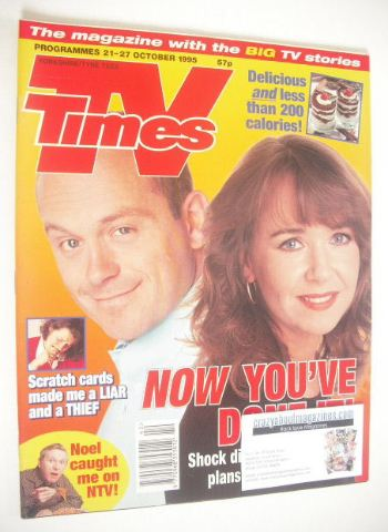 <!--1995-10-21-->TV Times magazine - Ross Kemp and Susan Tully cover (21-27