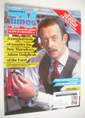 <!--1984-03-03-->TV Times magazine - Roy Marsden cover (3-9 March 1984)