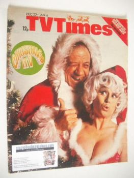 TV Times magazine - Sid James and Barbara Windsor cover (22 December 1973 - 4 January 1974)