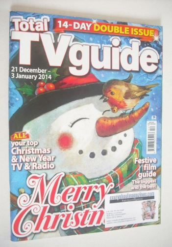 <!--2013-12-21-->Total TV Guide magazine - Christmas issue (21 December 201