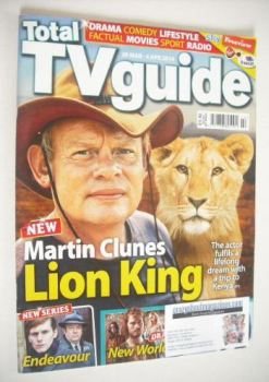 Total TV Guide magazine - Martin Clunes cover (29 March - 4 April 2014)