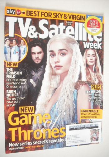 <!--2014-04-05-->TV&Satellite Week magazine - Game Of Thrones cover (5-11 A