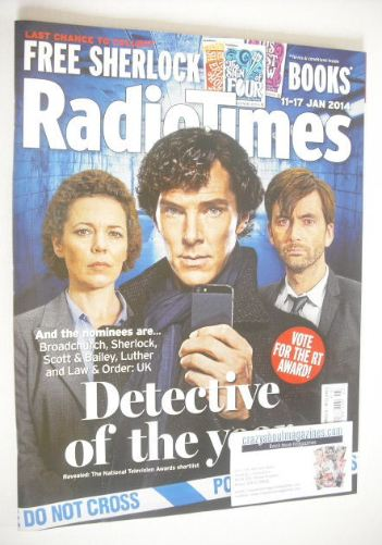 <!--2014-01-11-->Radio Times magazine - Detective Of The Year cover (11-17
