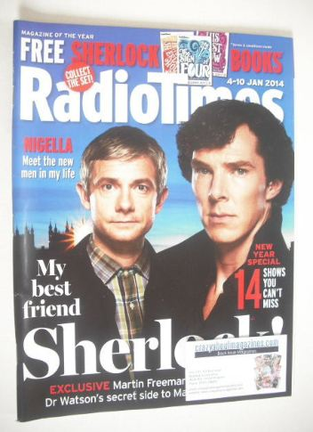 <!--2014-01-04-->Radio Times magazine - Martin Freeman and Benedict Cumberb