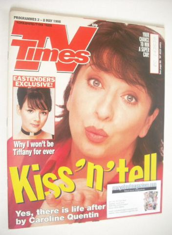 <!--1998-05-02-->TV Times magazine - Caroline Quentin cover (2-8 May 1998)