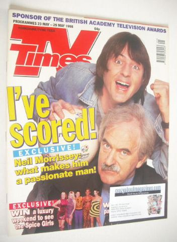 <!--1998-05-23-->TV Times magazine - Neil Morrissey and Des Lynam cover (23
