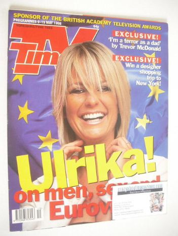 <!--1998-05-09-->TV Times magazine - Ulrika Jonsson cover (9-15 May 1998)