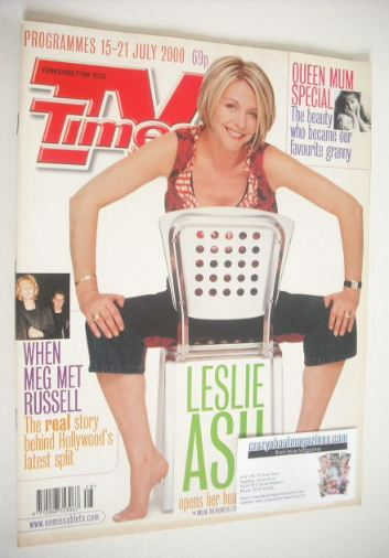 <!--2000-07-15-->TV Times magazine - Leslie Ash cover (15-21 July 2000)