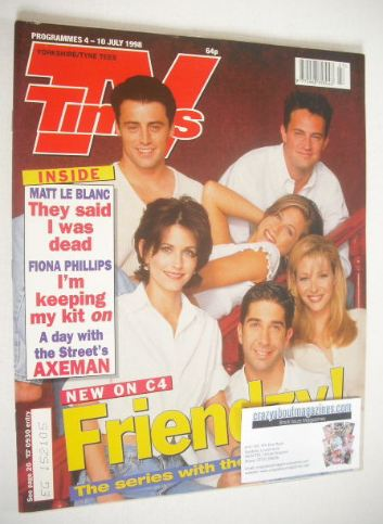 <!--1998-07-04-->TV Times magazine - Friends cover (4-10 July 1998)