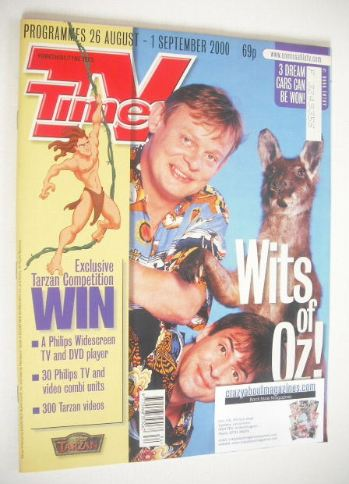 <!--2000-08-26-->TV Times magazine - Neil Morrissey and Martin Clunes cover