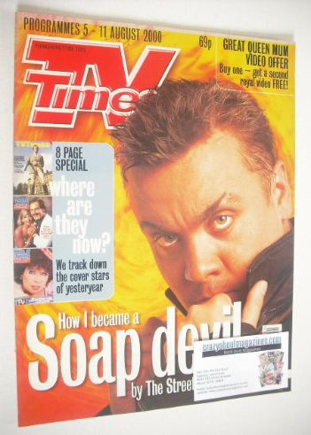 <!--2000-08-05-->TV Times magazine - Lee Boardman cover (5-11 August 2000)