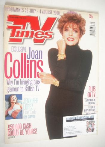 <!--2000-07-29-->TV Times magazine - Joan Collins cover (29 July - 4 August