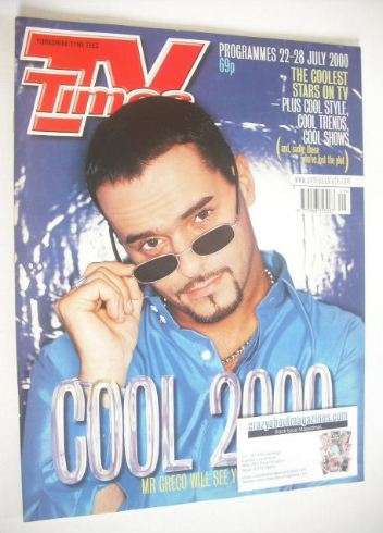 <!--2000-07-22-->TV Times magazine - Michael Greco cover (22-28 July 2000)