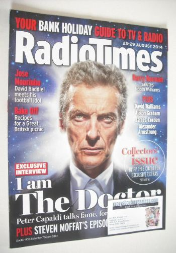 <!--2014-08-23-->Radio Times magazine - Peter Capaldi cover (23-29 August 2