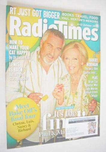 <!--2014-10-04-->Radio Times magazine - Paul Hollywood and Mary Berry cover
