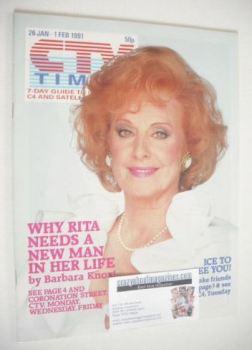 CTV Times magazine - 26 January - 1 February 1991 - Barbara Knox cover