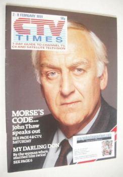 CTV Times magazine - 2-8 February 1991 - John Thaw cover