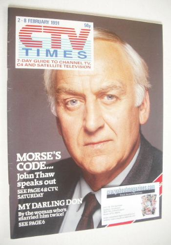 <!--1991-02-02-->CTV Times magazine - John Thaw cover (2-8 February 1991)