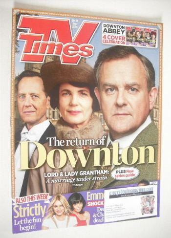 <!--2014-09-20-->TV Times magazine - Downton cover (20-26 September 2014)