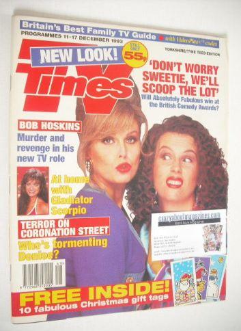 <!--1993-12-11-->TV Times magazine - Joanna Lumley and Jennifer Saunders co