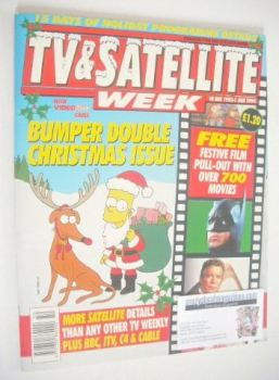TV & Satellite Week magazine - Christmas & New Year Issue (18 December 1993 - 1 January 1994)