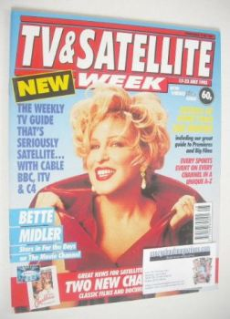 TV & Satellite Week magazine - Bette Midler cover (17-23 July 1993)