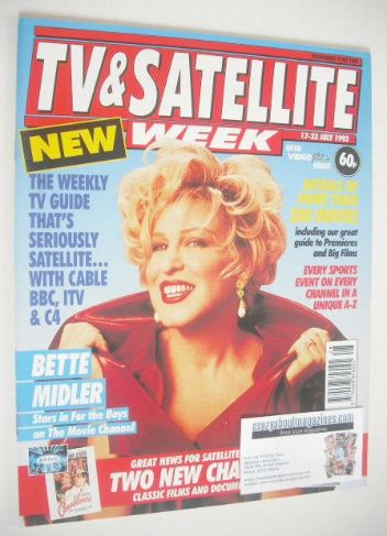<!--1993-07-17-->TV&Satellite Week magazine - Bette Midler cover (17-23 Jul
