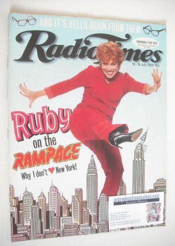 <!--1999-07-10-->Radio Times magazine - Ruby Wax cover (10-16 July 1999)