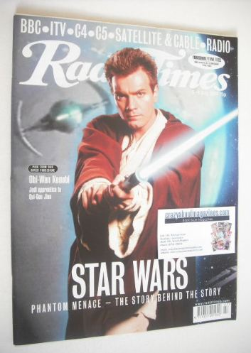 <!--1999-07-03-->Radio Times magazine - Obi-Wan Kenobi cover (3-9 July 1999