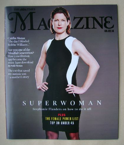 <!--2014-02-08-->The Times magazine - Stephanie Flanders cover (8 February