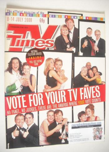 <!--2000-07-08-->TV Times magazine - Vote For Your TV Faves cover (8-14 Jul
