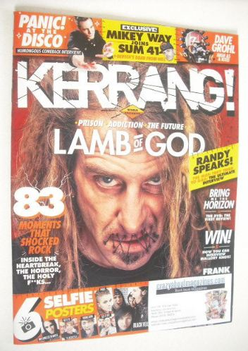 <!--2015-07-18-->Kerrang magazine - Randy Blythe cover (18 July 2015 - Issu