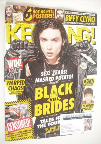 <!--2015-07-11-->Kerrang magazine - Andy Biersack cover (11 July 2015 - Iss