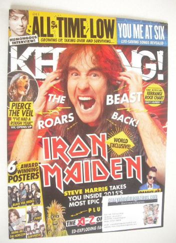 <!--2015-07-04-->Kerrang magazine - Steve Harris cover (4 July 2015 - Issue