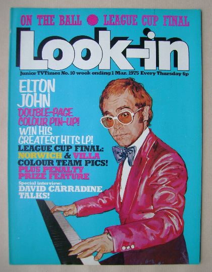 <!--1975-03-01-->Look In magazine - Elton John cover (1 March 1975)