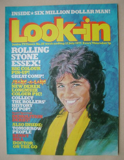 <!--1975-07-12-->Look In magazine - David Essex cover (12 July 1975 - Numbe