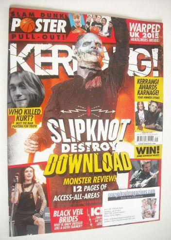 <!--2015-06-20-->Kerrang magazine - Slipknot cover (20 June 2015 - Issue 15