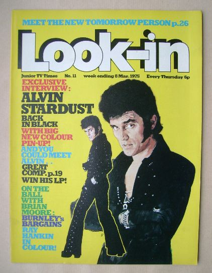 <!--1975-03-08-->Look In magazine - Alvin Stardust cover (8 March 1975)