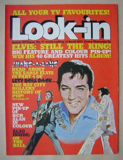 <!--1975-04-19-->Look In magazine - Elvis Presley cover (19 April 1975)