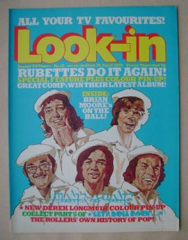 Look In magazine - The Rubettes cover (26 April 1975)