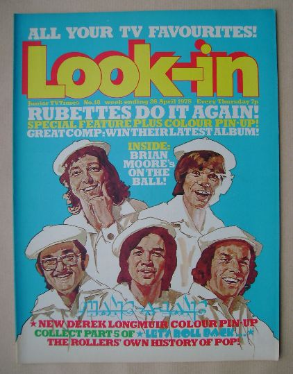 <!--1975-04-26-->Look In magazine - The Rubettes cover (26 April 1975)