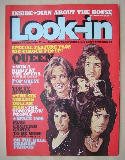 <!--1975-11-15-->Look In magazine - Queen cover (15 November 1975 - Number