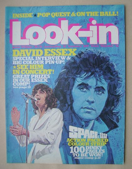 <!--1975-09-20-->Look In magazine - David Essex cover (20 September 1975 -