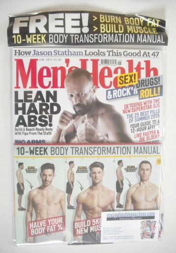 <!--2015-06-->British Men's Health magazine - June 2015 - Jason Statham cov