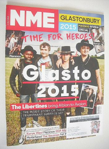 <!--2015-07-04-->NME magazine - Glastonbury 2015 cover (4 July 2015)