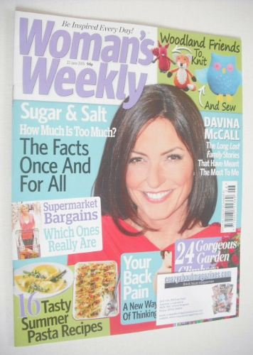 <!--2015-06-23-->Woman's Weekly magazine (23 June 2015 - Davina McCall cove