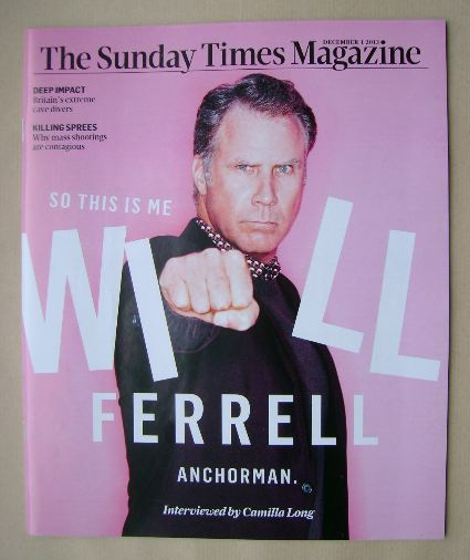 <!--2013-12-01-->The Sunday Times magazine - Will Ferrell cover (1 December