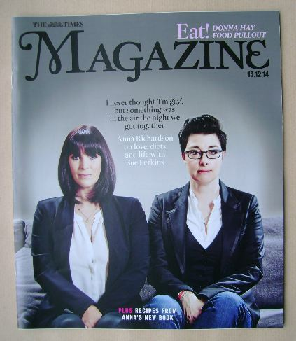 <!--2014-12-13-->The Times magazine - Anna Richardson and Sue Perkins cover