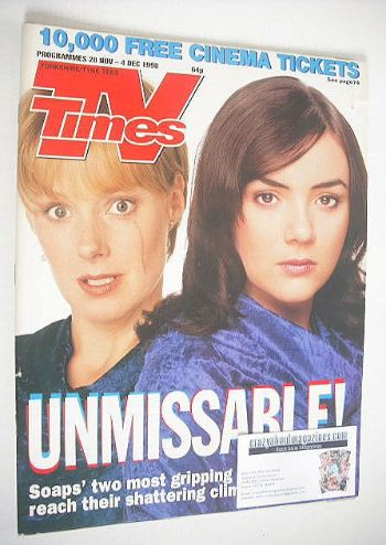 <!--1998-11-28-->TV Times magazine - Sally Whittaker and Martine McCutcheon
