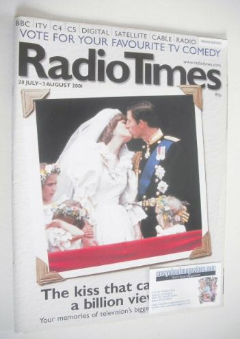 <!--2001-07-28-->Radio Times magazine - Prince Charles and Princess Diana c